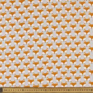 Fox Faces Printed Poplin Fabirc