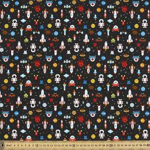 Space Cadet Printed Buzoku Cotton Duck Fabric