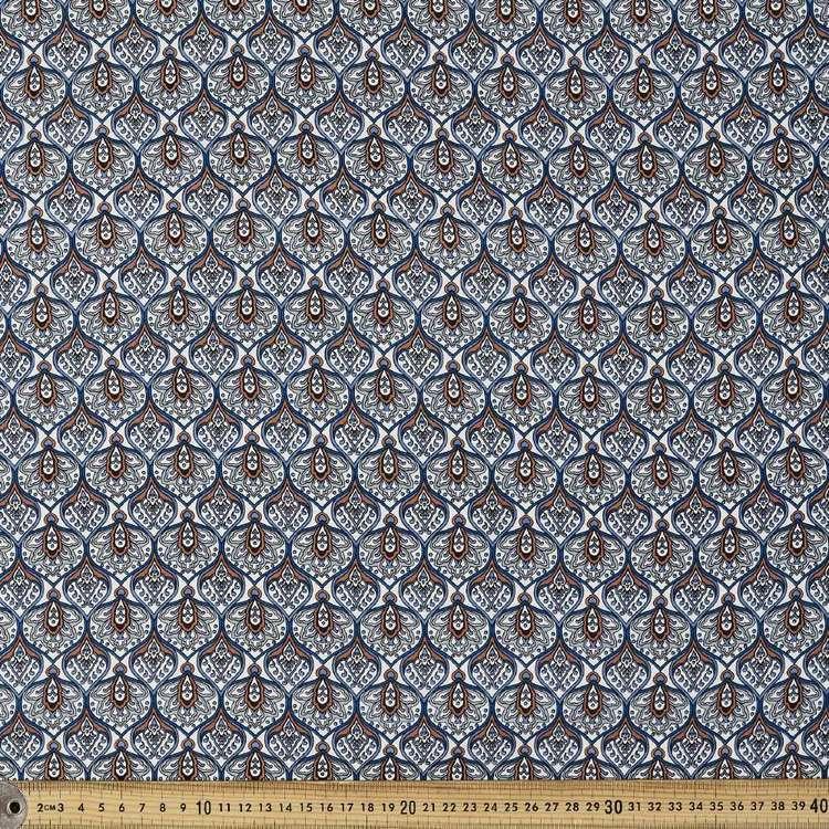 Emblem Printed Rayon Fabric