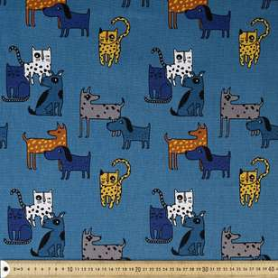 Dog Gone Printed Buzoku Cotton Duck Fabric