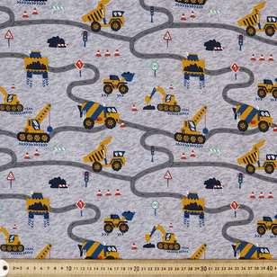 Road to Nowhere Printed Buzoku Cotton Duck Fabric