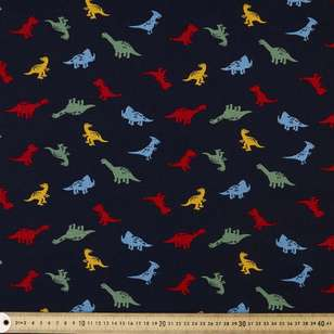 Primasaurus Printed Buzoku Cotton Duck Fabric