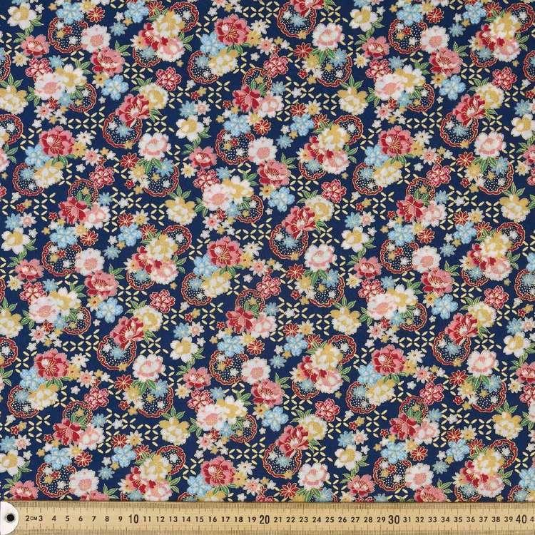 Lotus Printed Oriental TC Fabric