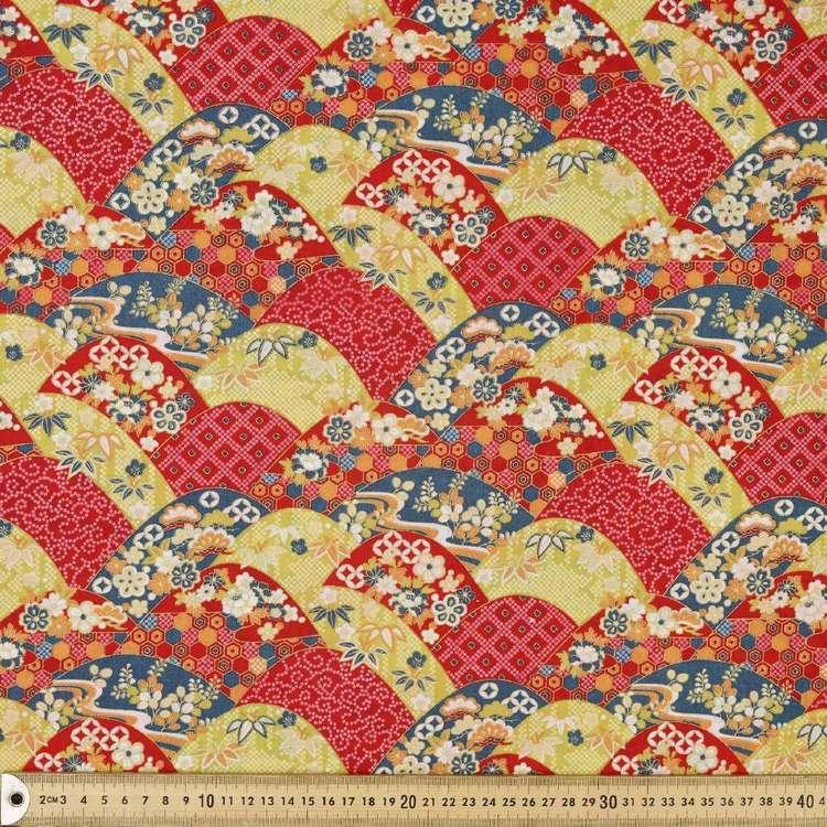 Fans Printed Oriental TC Fabric