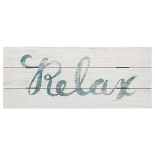 Bouclair Coastal Charm Plaque Typo Relax