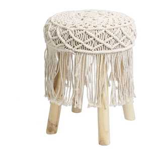 Ombre Home Animal Instinct Macrame Footstool