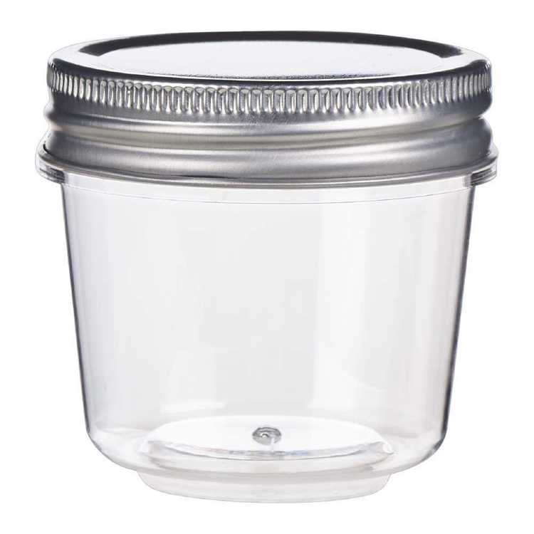 Darice Plastic Mason Jars With Lid Clear