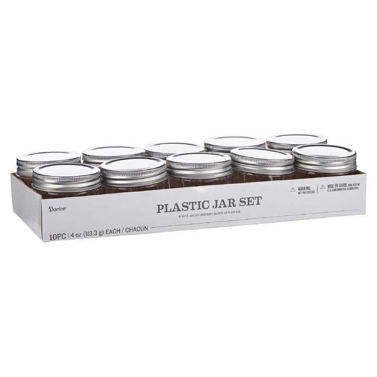 Darice Plastic Mason Jars With Lid