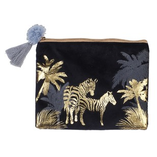 Ombre Home Animal Instinct Zebra Pouch With Foil