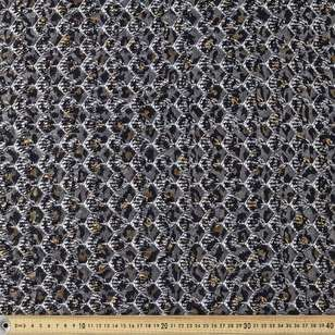 Snake Printed Metallic Lace Fabric