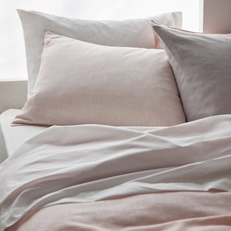 Bouclair Spring Bloom Chita Linen Quilt Cover Set Blush