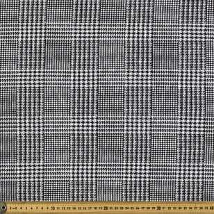 Monotone Jacquard Houndstooth Printed 148 cm Knit Fabric