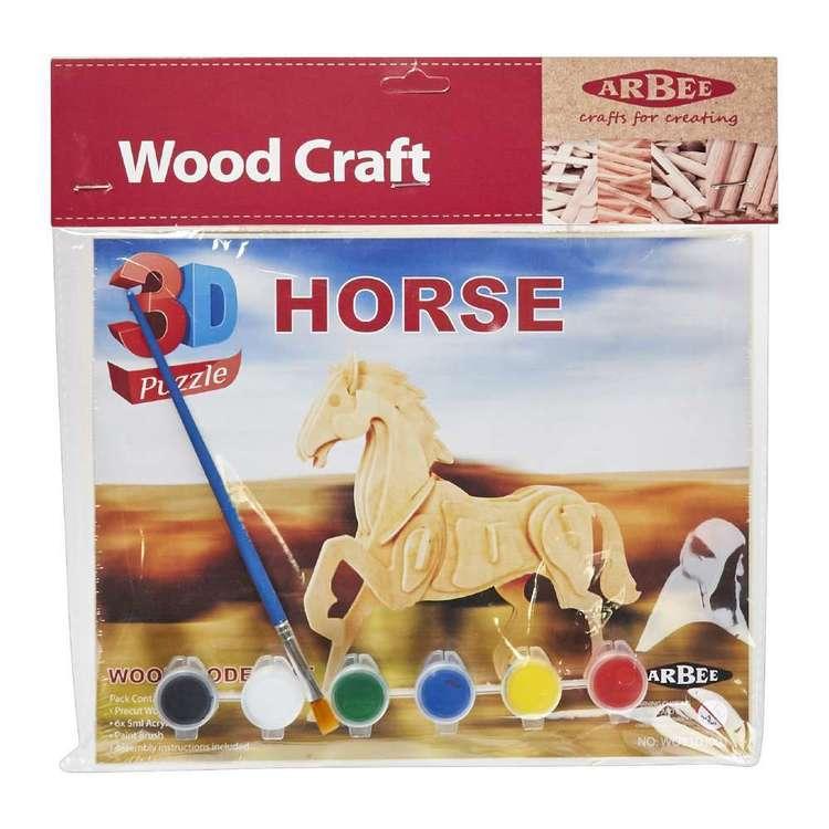Arbee Horse Wooden 3D Puzzles