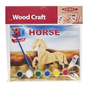 Arbee Horse Wooden 3D Puzzles