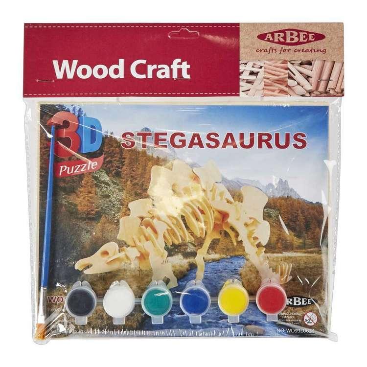Arbee Stegosaurus Wooden 3D Puzzle