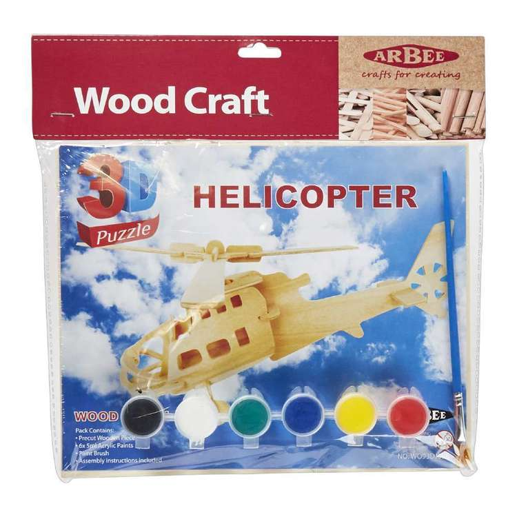 Arbee Helicopter Wooden 3D Puzzle