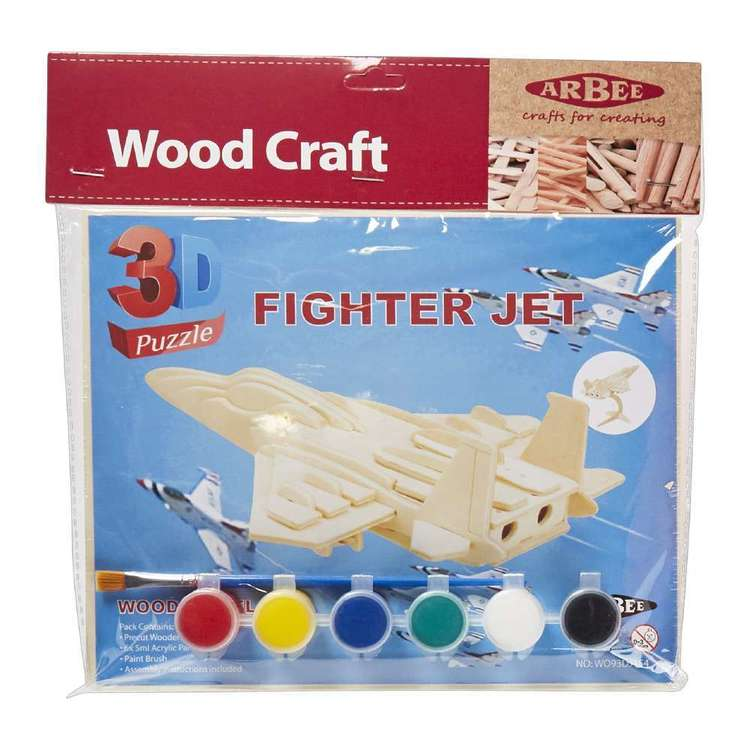 Arbee Fighter Jet Wooden 3D Puzzle