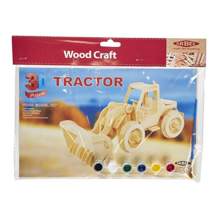 Arbee Tractor Wooden 3D Puzzle