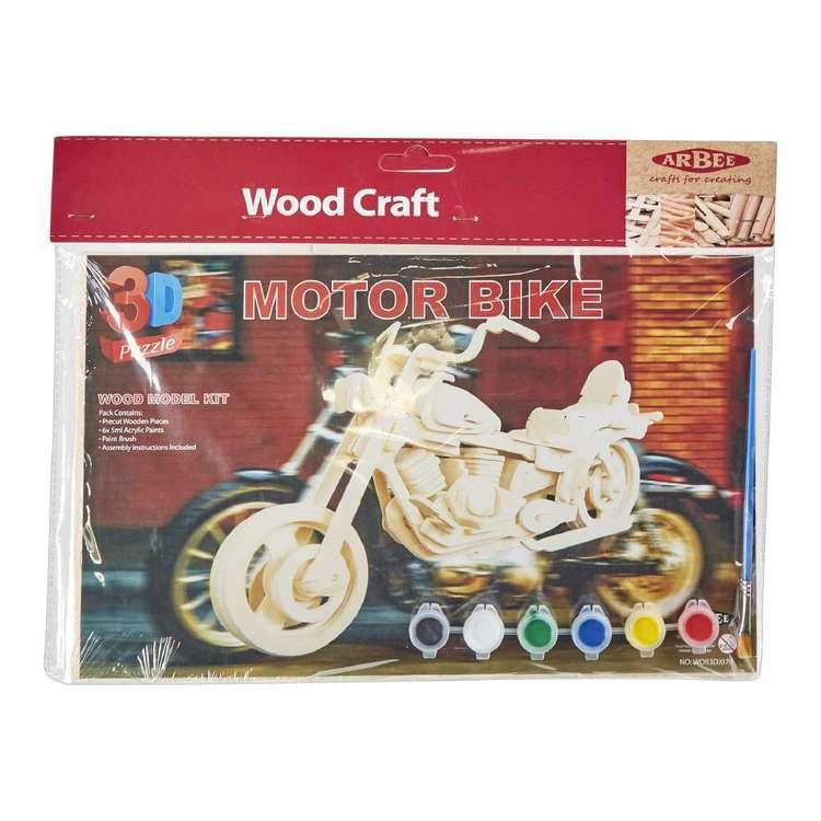 Arbee Motor Bike Wooden 3D Puzzle
