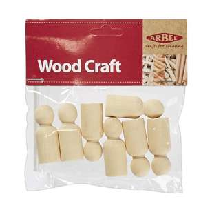 Arbee Wooden People Boys 7 Pack