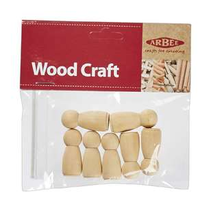 Arbee Wooden People Girls 7 Pack