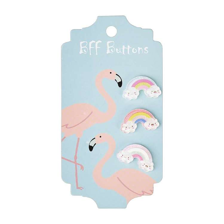 BFF Rainbow Buttons 3 Pack
