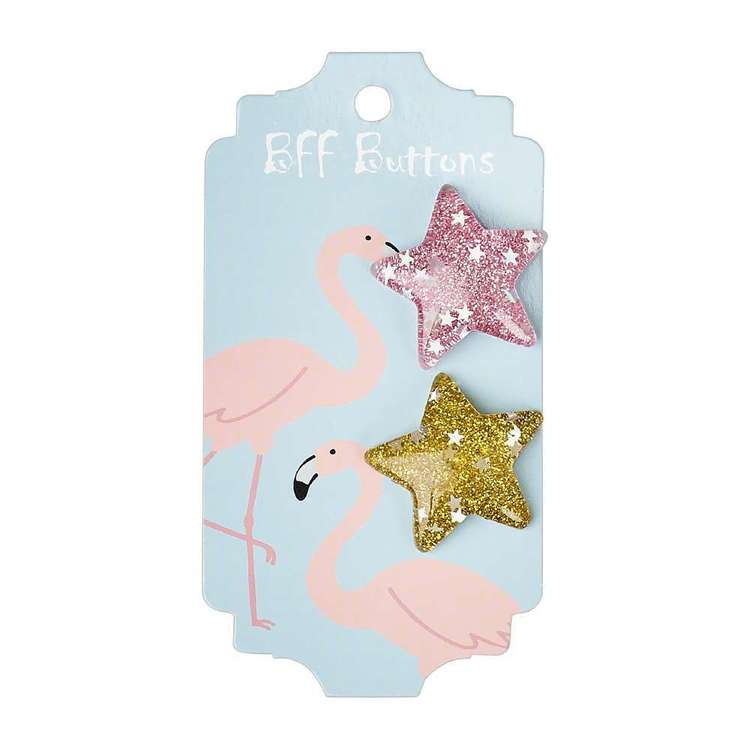 BFF Star Buttons 2 Pack