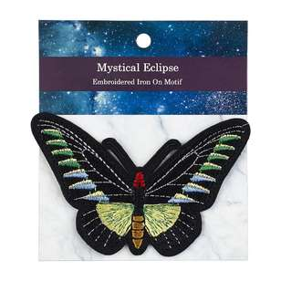 Mystical Eclipse Small Butterfly Iron On Motif