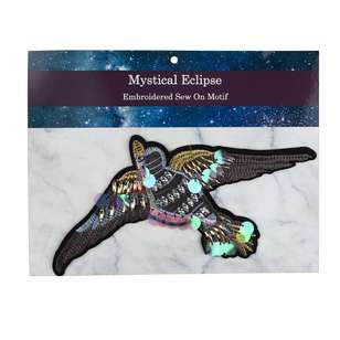Mystical Eclipse Beaded Sparrow Sew On Motif