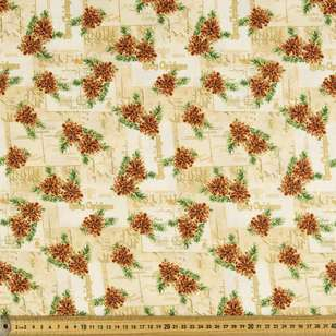 Christmas Chimes Cotton Fabric