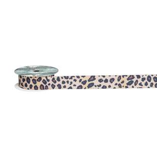 Exotic Greenhouse Ribbed Leopard Print Grosgrain Ribbon