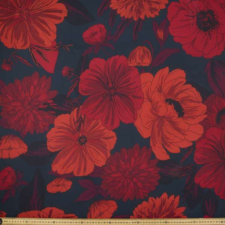 Flower Printed Chiffon Fabric