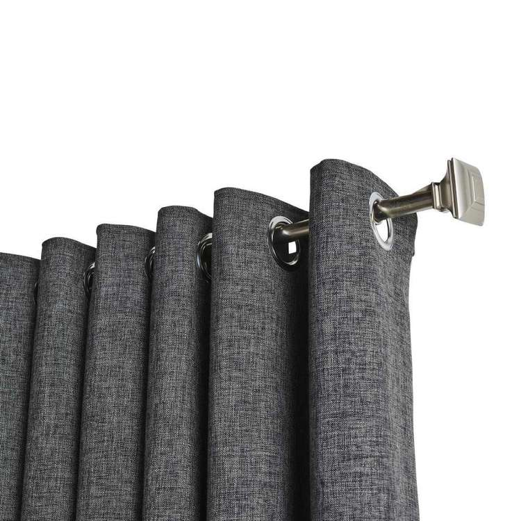 KOO Vermont Eyelet Curtains Charcoal 80 - 140 x 223 cm