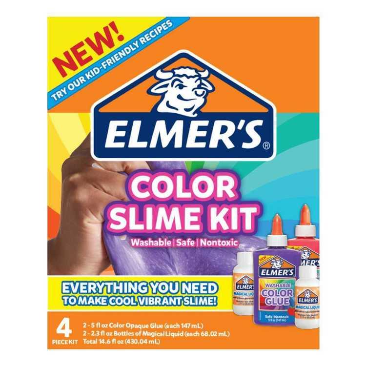 Elmer's Opaque Coloured Slime Kit