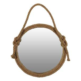 Living Space Round Rope Mirror