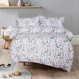 Kids House Bunny Flannelette Quilt Cover Set