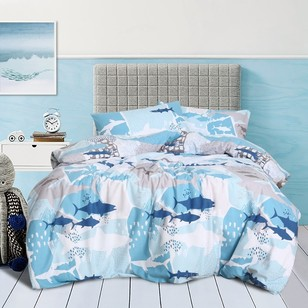 Kids House Under The Sea Flannelette Quilt Cover Set