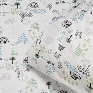 Kids House Treefield Flannelette Sheet Set