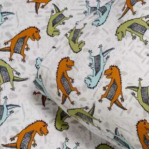 Kids House Dino Flannelette Sheet Set