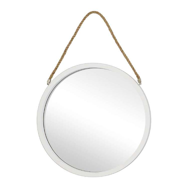 Living Space Round Mirror With Rope
