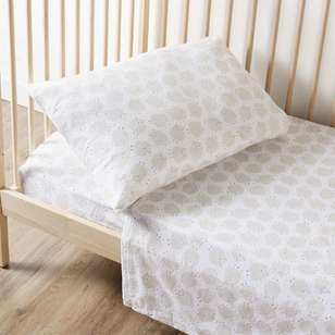 KOO Baby Sheep Flannelette Cot Sheet Set
