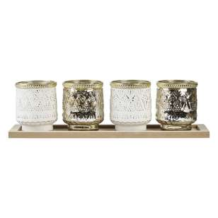 Ombre Home Desert Rose Set of 4 Candle Holder