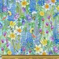 Nature's Garden Digital Garden Cotton Fabric Multicoloured 112 cm