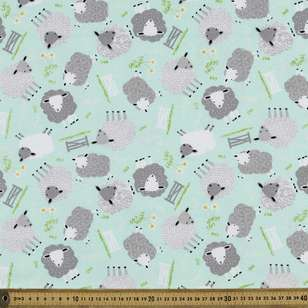 Sheep Printed Flannelette Fabric