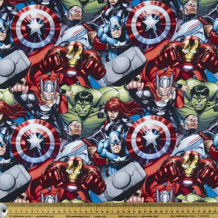 Avengers Charge Allover Cotton Fabric