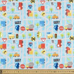 One-way Traffic Printed Flannelette Fabric