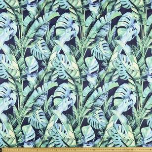 Monstera Printed Power Hold Stretch Knit Fabric