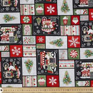 Studio E Holly Yuletide Cheer Patch Cotton Fabric