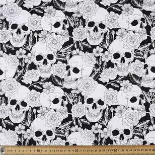 Pretty Edgy Printed Cotton Sateen Fabric