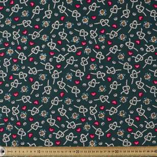 Tie the Knot Printed Stretch Poplin Fabric